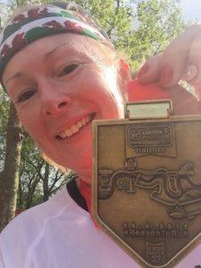 Michaela's Marathon medal